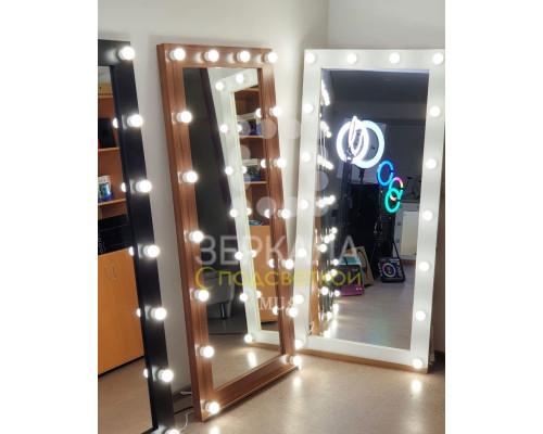 Гримерное зеркало с подсветкой 175х80 Орех