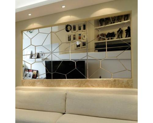 Зеркальное панно в гостиную над диваном