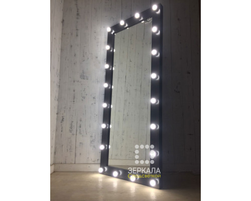 Гримерное зеркало с подсветкой по контуру 180х80 венге лдсп премиум