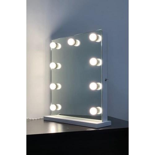 Гримерное зеркало настольное  без рамы 60x50 с подсветкой светодиодными лампочками