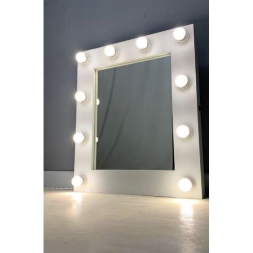 Гримерное визажное зеркало с подсветкой из ламп 60х65 см