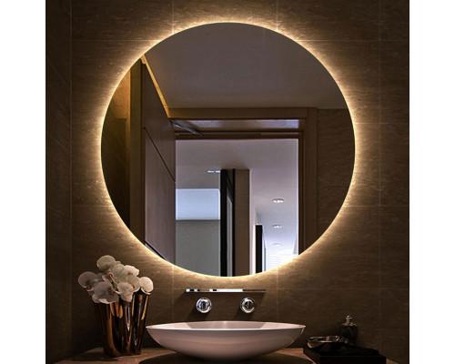 Зеркало с теплой внутренней подсветкой для ванной комнаты Марсель