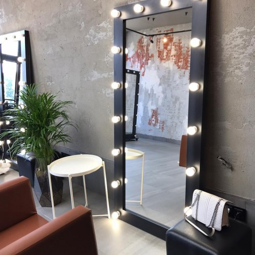 Гримерное зеркало с подсветкой венге 175х80 лдсп стандарт В НАЛИЧИИ