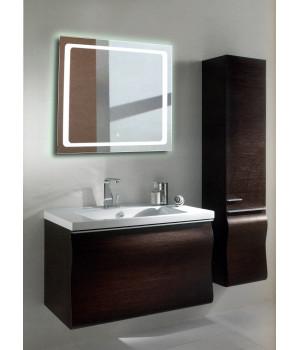 Квадратное зеркало с подсветкой в ванной Катро 50x50 см
